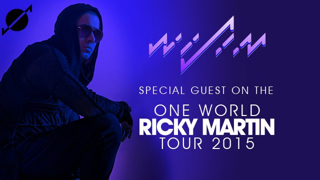 Special guest on the Ricky Martin One World Tour 2015