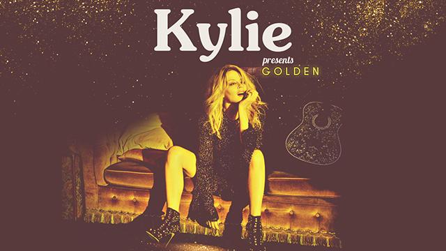 Kylie presents Golden