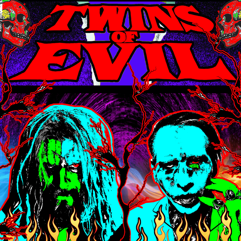 Rob Zombie And Marilyn Manson With Deadly Apples