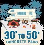 30' to 50' Concrete Pads