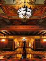 TWO OF THE MANY HALLWAYS - leading to the reception areas - the Hollywood location closely resembles these pictures