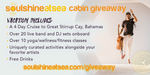 Enter To Win Soulshine At Sea Cabin + THEME NIGHTS ANNOUNCED!
