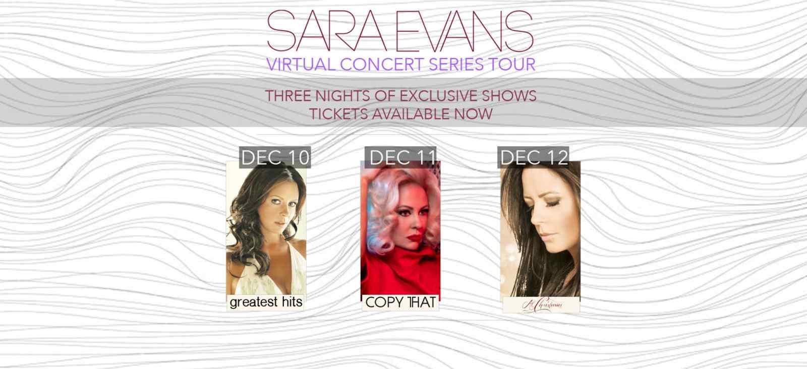 Sara Evan's Virtual Concert Series Tour: Copy THAT Livestream
