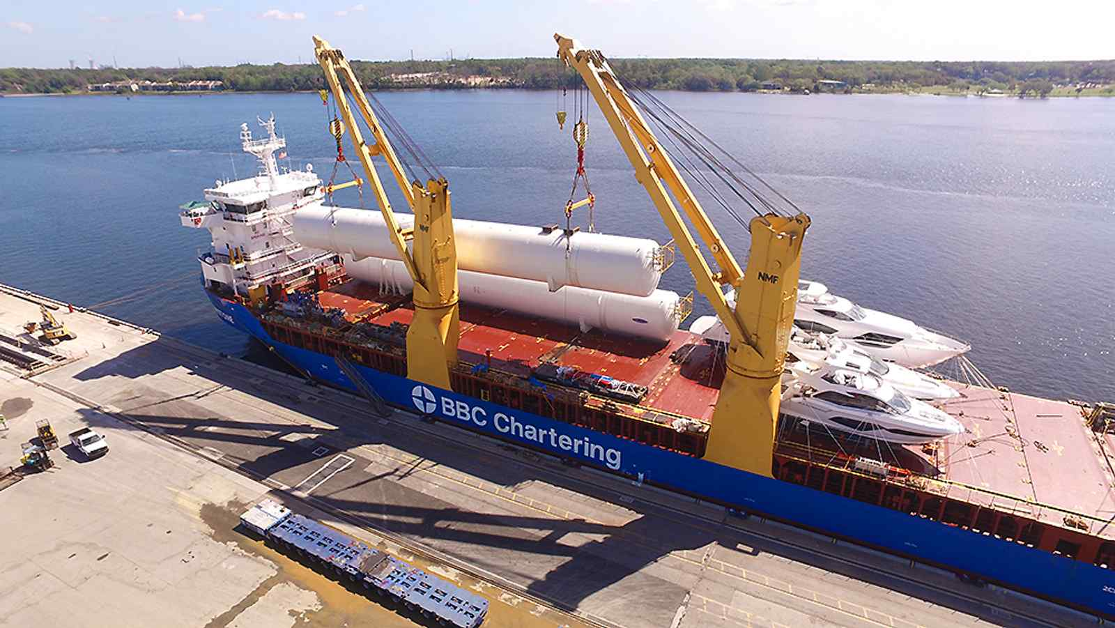New Massive LNG Storage Tanks Arrive for Crowley's Jacksonville Bunkering Facility
