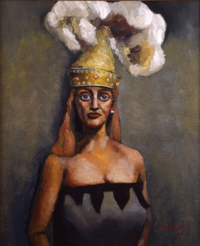 Woman With Plume Hat