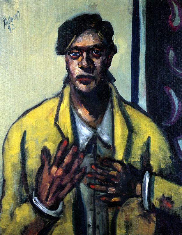 Self Portrait in Yellow Jacket