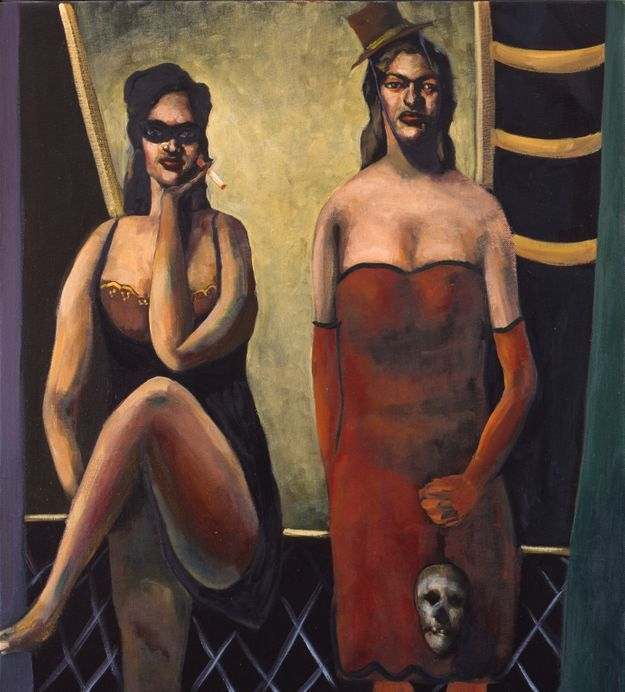 Two Girls With Skull