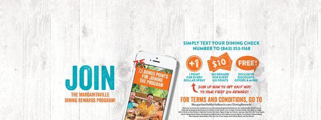 Join the Margaritaville Dining Rewards Program