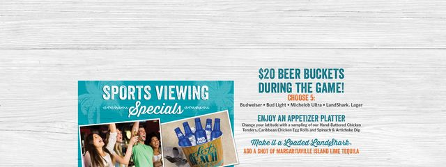 Sports Specials - $20 beer buckets during the game!
