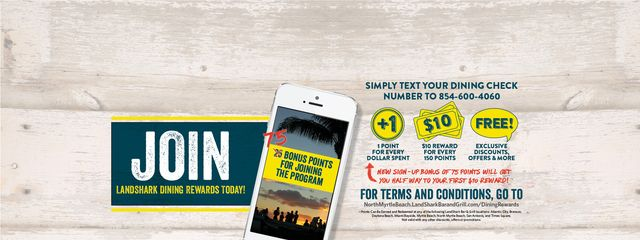 Join the LandShark Dining Rewards Program