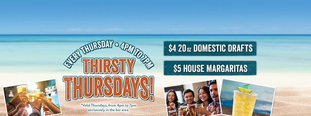 Join us for Thirsty Thursday at LasdShark North Myrtle Beach